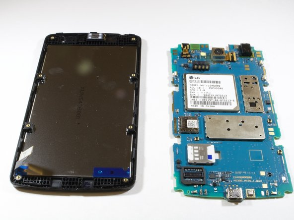 Pull motherboard  to detach digitizer from the motherboard