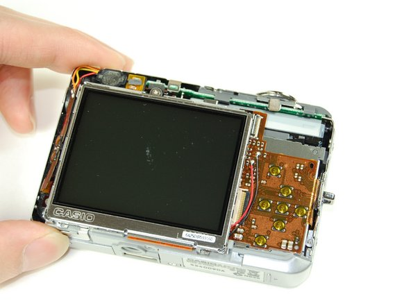 With tweezers, carefully remove ribbon from LCD screen.