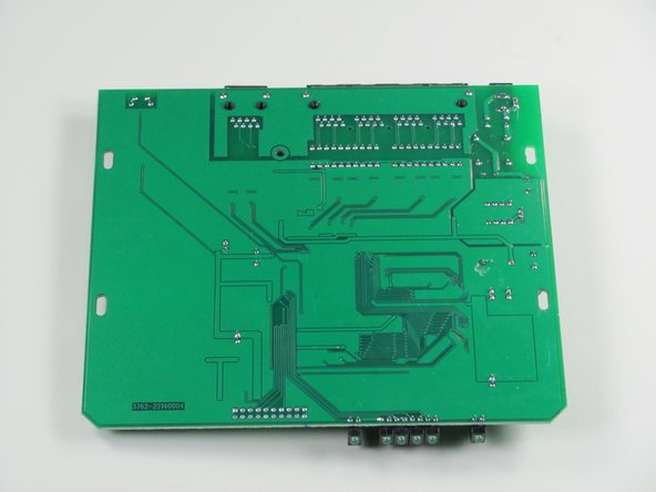 Bottom view of circuit board.