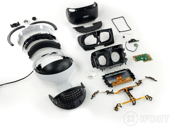 Image 1/2: For your dining pleasure we have a deconstructed PS VR headset