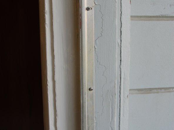 Repaired door frame/ door jamb.