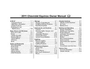 2011 Chevrolet Equinox Owner Manual