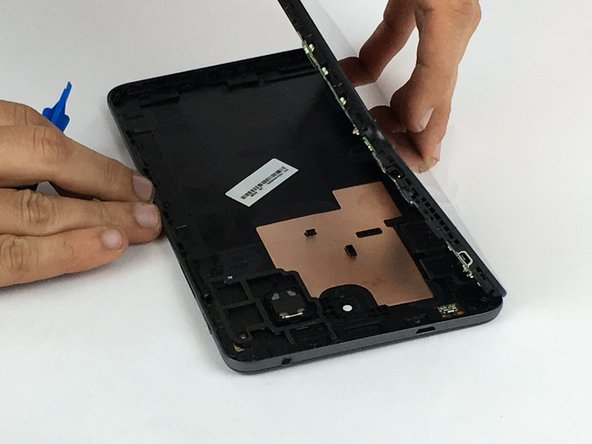 Carefully remove the back panel from the front panel.