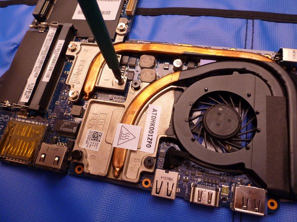 To remove the heatsink and replace thermal paste, remove the screws in the correct order (marked with a number on the heatsink).