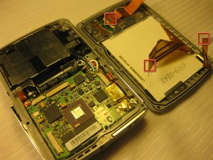 Disassembling Olympus Stylus 725 SW LCD Screen