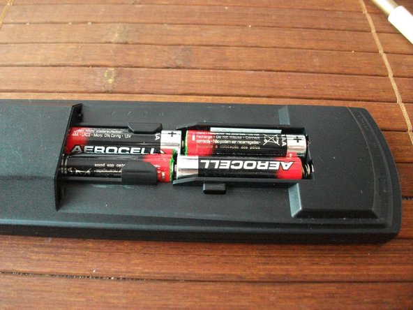 Open battery housing and remove the batteries