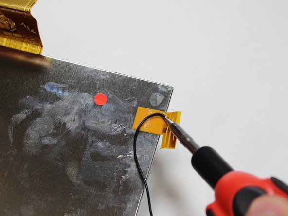 Soldering guns are hot and can easily damage you or the device.