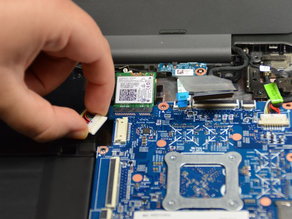 Image 2/3: Use your Phillips #0 screwdriver to unscrew the five 0.2 mm screws from the motherboard.
