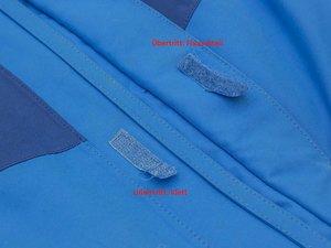 Wie kann ich einen losen Klett an einer Vaude Jacke wieder annähen?