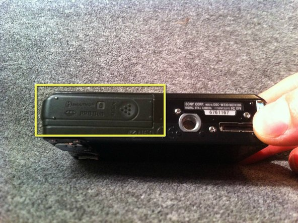 Sony Cyber-shot DSC-W230 Battery Replacement