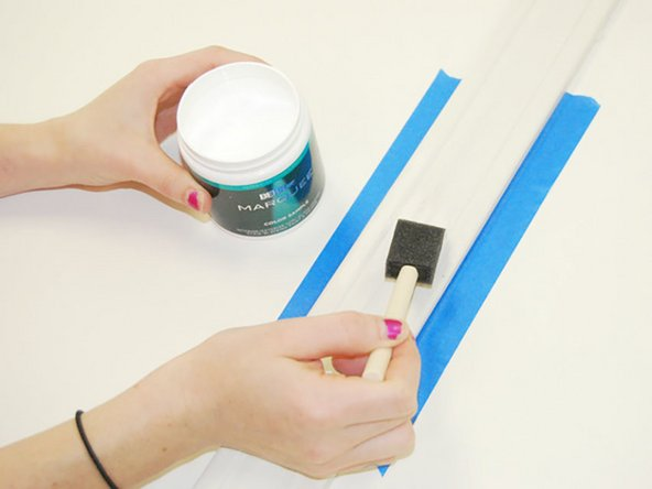 Allow the paint to dry before removing the tape.