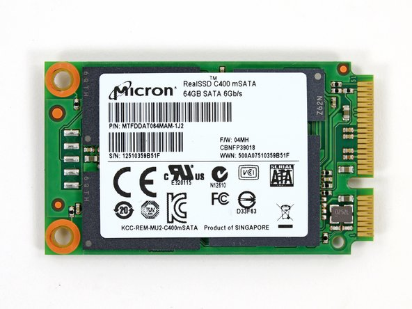 "The Micron RealSSD C400 packs 64 GB of storage capacity. It can read 500MB/s and write 95 MB/s — all in a tiny 1.8"" form factor."