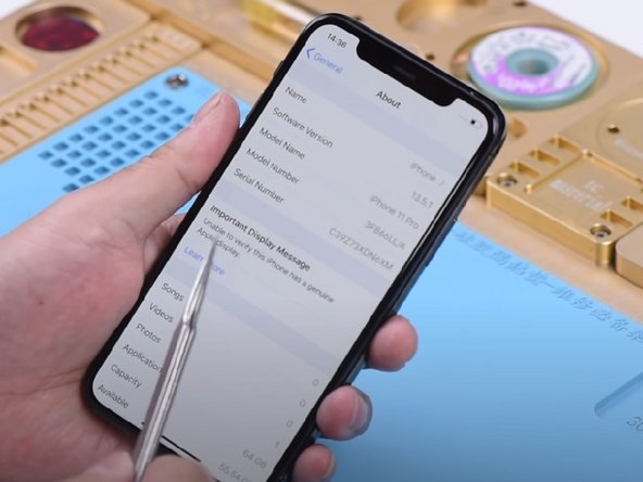 iPhone 11 Series Non-Genuine Screen Warning/Important Display Message - 100% Fix