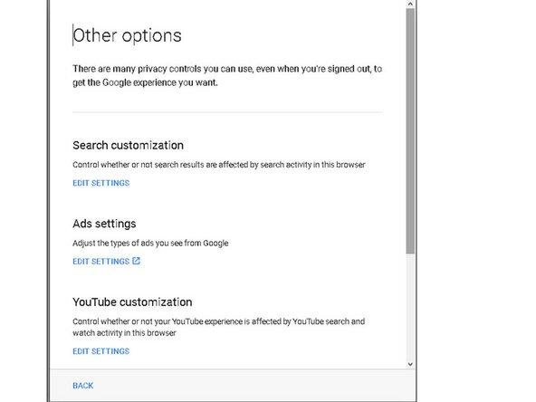 "Turn off ""Search Customization"""