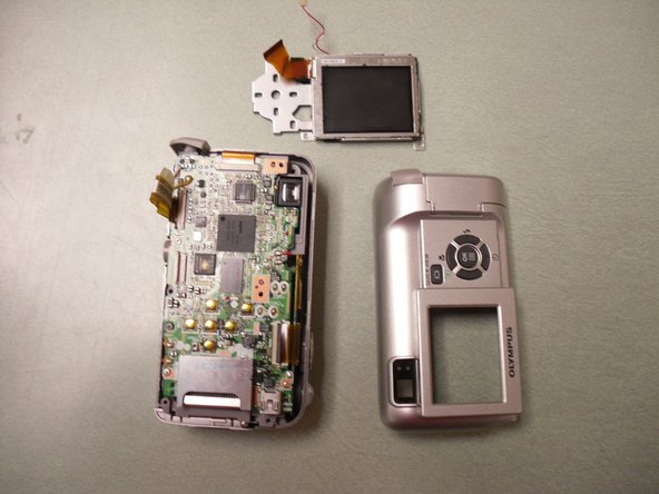 The LCD screen housing should now be free of the camera.