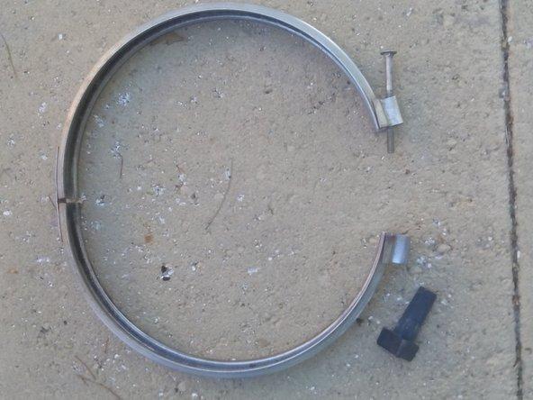 Take the metal ring bracket off.