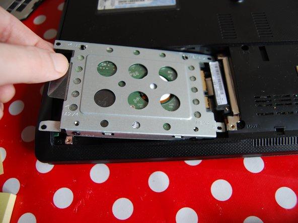 Finally, remove the hard drive.