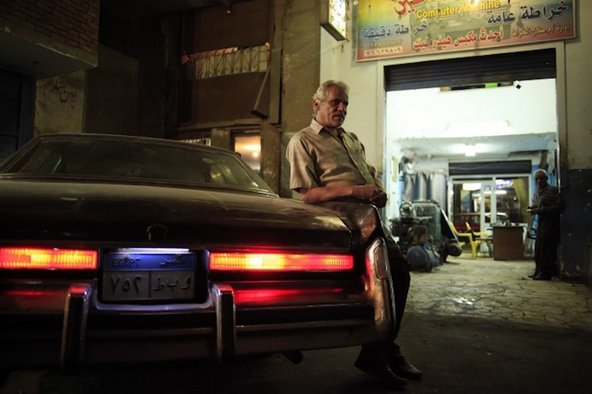 Saleh the car mechanic at his shop in Cairo
