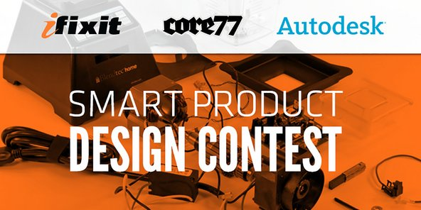 Banner for smart product design contest with Core77 and Autodesk