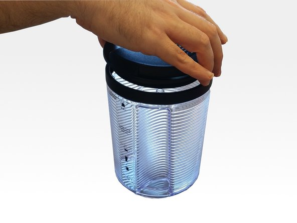 Twist the water reservoir lid counterclockwise to remove it.