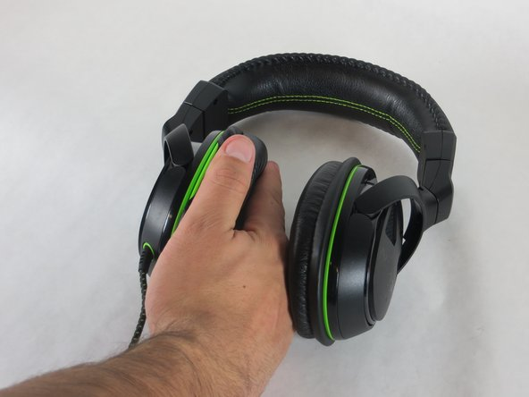 Get a good grasp around the ear pad and gently separate it from the headset  as show in image 2.