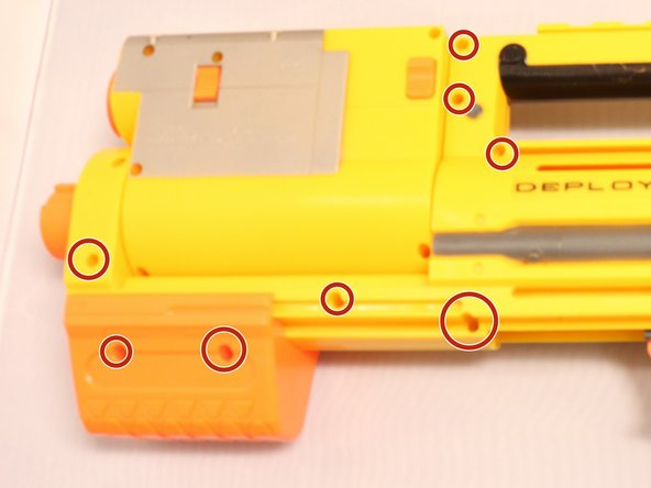 Image 1/2: Once the device is extended out, proceed to take out the necessary screws as shown.