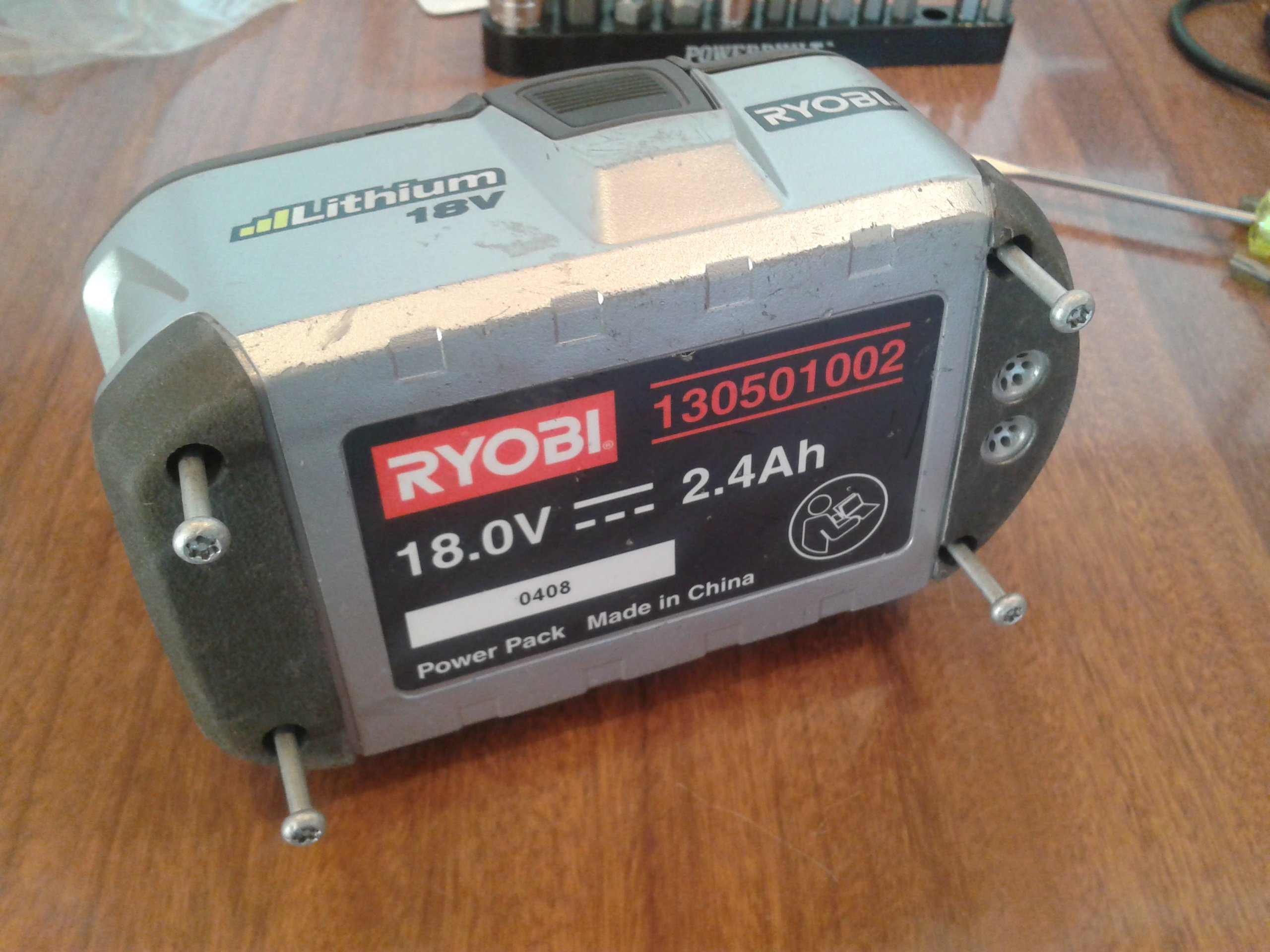 Cell Re-balance of Ryobi One+ 18V Li-ion Battery (130501002 ... on 12v solar panel wiring diagram, projector wiring diagram, radio control wiring diagram, usb flash drive wiring diagram, buzzer wiring diagram, camera wiring diagram, speaker wiring diagram, mic wiring diagram, voltage wiring diagram, connector wiring diagram, tv antenna wiring diagram, led wiring diagram,