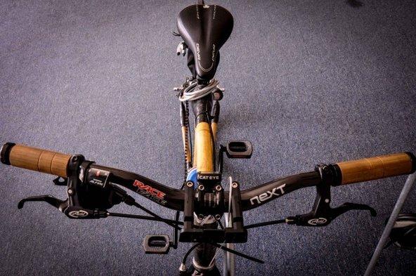 Bamboo bike handlebars