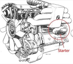 solved how to replace the starter on a 1989 635 csi bmw 1985 rh ifixit com BMW E46 Wiring Harness BMW Stereo Wiring Harness
