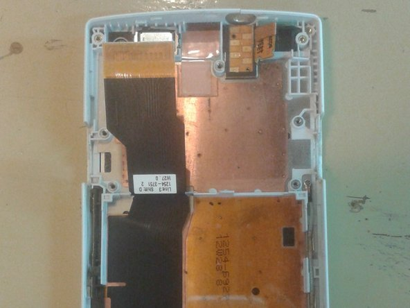 Finally, after removing the motherboard, you have fully dismantled the phone.