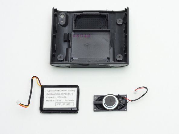 Once the battery and the speaker are removed, you now only have the back cover!