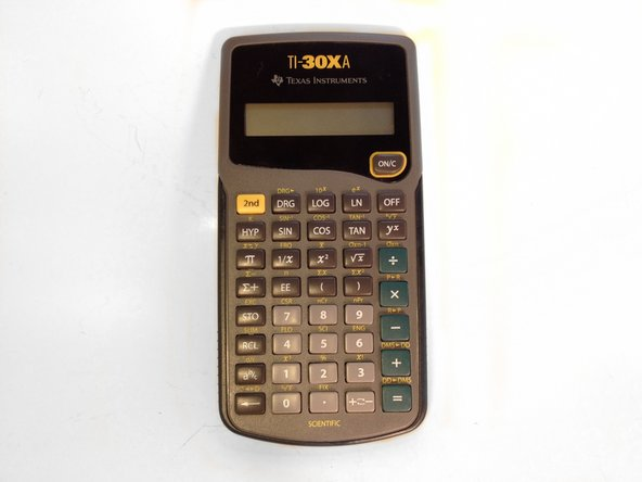 Here's the fully assembled TI-30XA calculator.