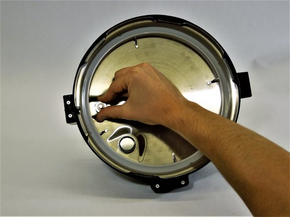 Pull the plastic washer off the bobber valve and allow the bobber valve to fall out