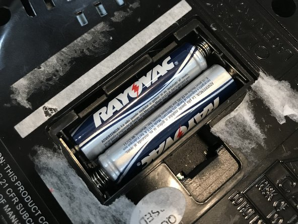 Replace old batteries with new batteries.