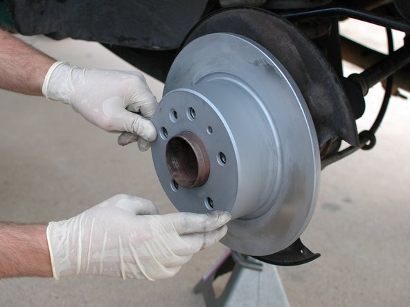 Mercedes W123 Brake Disc, Rear Replacement