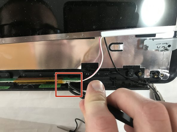 You may need to use pliers to perform. It`s not required, but it can help to unplug the cable, because it might be too tight between the logic board and the screen frame.