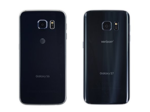 Image 2/2: That's better. Unlike its predecessor, the S7's back panel curves gently on the sides, making it a more grabbable handset.