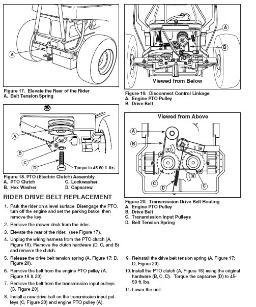 Exmark Belt Replacement Instructions