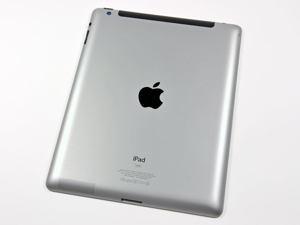 "Image 1/3: So this is what the rear panel of a new ""new iPad"" looks like. Do you know what it sort of [guide