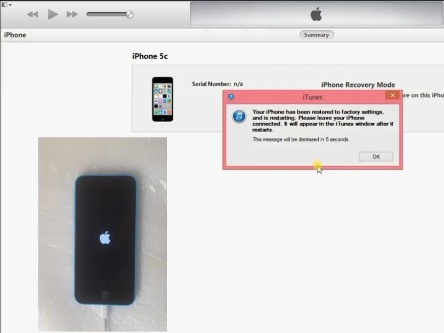 iPhone 4 / 4S / 5 / 5S / 5c / 6 / 6S - how to flash from DFU mode  Password  recovery