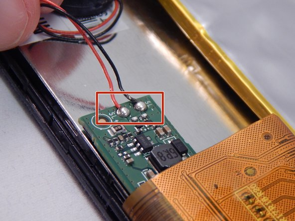 Image 1/1: Locate the soldering points where the wires have been connected to the circuit board.
