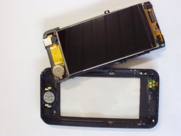 The actual screen will then clip out of the plastic casing protecting it.