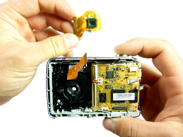 The second picture shows what the camera should look like with out the internal lens attached.