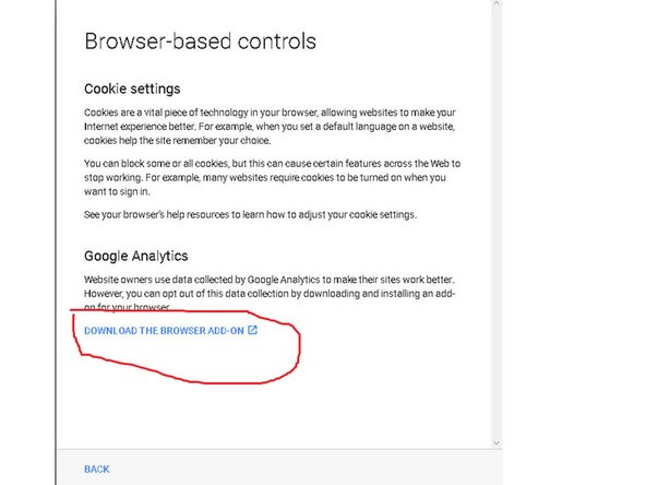 Install the browser add-on to opt-out Google tracking !