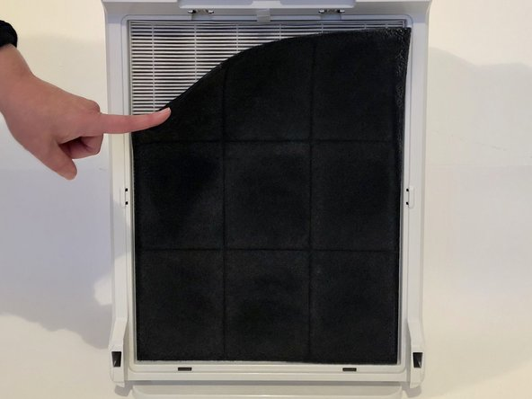 Remove the Activated Carbon Pre-Filter by pulling it away from the device.