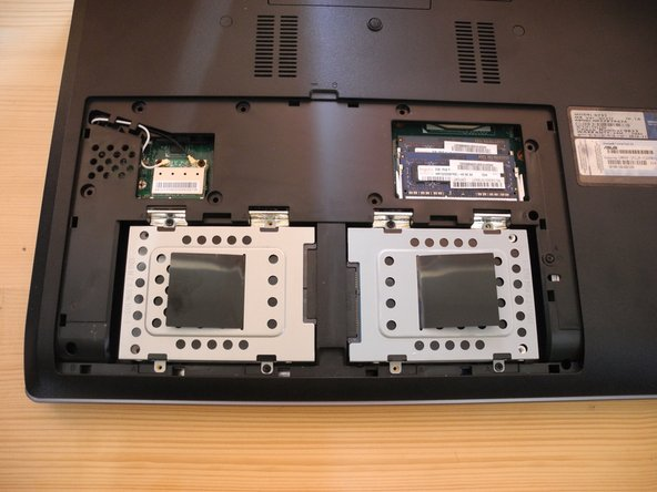 Gently slide your new SSD/HDD in the empty HDD bay. And do not forget to secure it to the body of the laptop with a few screws.