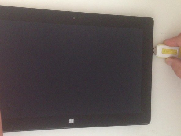 - Make Surface turned off and plugged in.