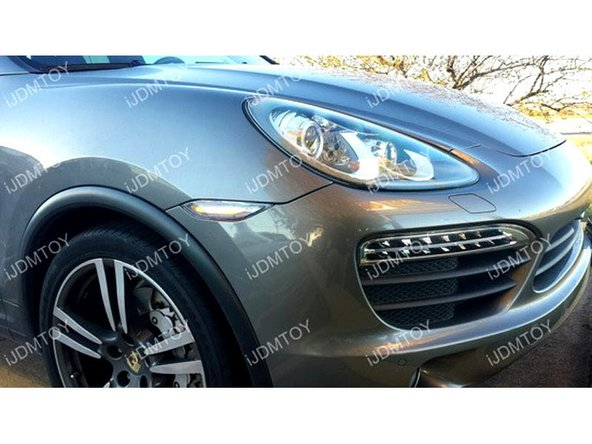 Enjoy the new Porsche Cayenne LED side marker lights.