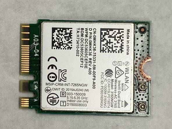 Dell Inspiron 7568 Wifi Card Replacement