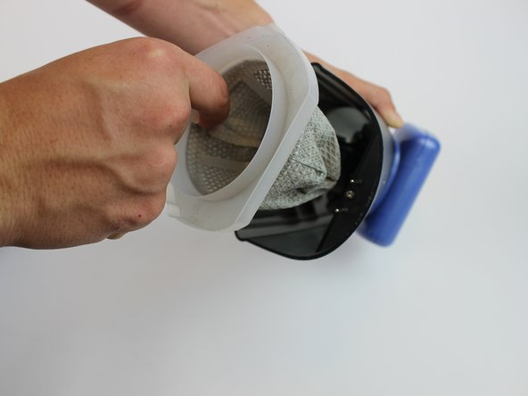 Remove Dust Cup Filter.